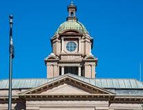 Kupol på Lawrence County Courthouse Arkivfoto