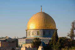 Kupol på Rockmoskén, Jerusalem Royaltyfri Fotografi