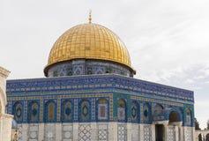 Kupol på vagga jerusalem israel Arkivfoto