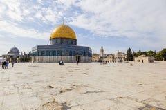 Kupol på vagga på tempelmonteringen jerusalem israel Arkivbild