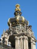 kupol utsmyckade dresden Fotografering för Bildbyråer