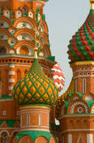 Kupola de cathédrale de basilic de saint de Moscou Images stock