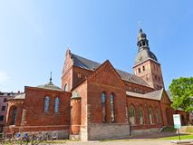 Kupoldomkyrka (1211), Riga, Lettland Arkivfoto