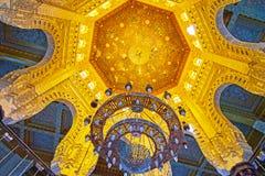 Kupolen av Abu al-Abbas al-Mursi Mosque, Alexandria, Egypten Arkivfoton