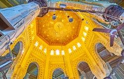 Kupolen av Abu al-Abbas al-Mursi Mosque i Alexandria, Egypten Royaltyfri Foto