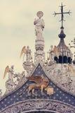 Kupolen av basilikan av St Mark i Venedig Arkivfoto