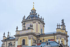 Kupolen av den katolska domkyrkan royaltyfri bild