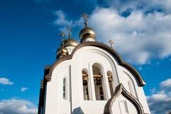 Kupolen av den kristna kyrkan Fotografering för Bildbyråer
