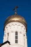 Kupolen av den kristna kyrkan Arkivfoton