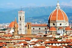 Kupolen av Florence Cathedral Royaltyfria Bilder