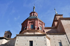 Kupolen av Jesuits kyrktar, Alcala de Henares (Madrid) royaltyfria foton