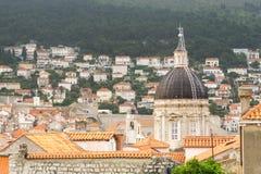 Kupolen av kyrkan av St Blaise i Dubrovnik Arkivbilder
