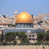 Kupolen av vagga från Mount of Olives Royaltyfri Bild