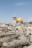 Kupolen av vagga i den gamla staden, Jerusalem Arkivfoto