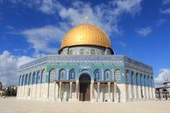 Kupolen av vagga i Jerusalem Arkivbilder
