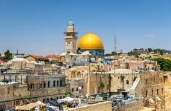 Kupolen av vagga i Jerusalem Arkivfoton