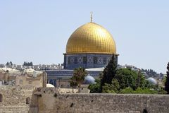 Kupolen av vagga i Jerusalem, Israel Royaltyfri Fotografi