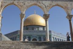 Kupolen av vaggar i tempelmonteringen i Jerusalem Royaltyfri Foto
