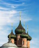 Kupoler av den ortodoxa kyrkan Royaltyfri Fotografi
