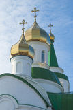Kupoler av den ortodoxa templet Royaltyfria Foton