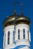 Kupoler av domkyrkan av den Astana staden, Kasakhstan Arkivfoton