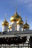 Kupoler av en ortodox kyrka Royaltyfri Foto