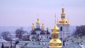 Kupoler av Kiev Pechersk Lavra arkivfilmer