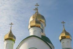 Kupoler av kyrkan. Fotografering för Bildbyråer