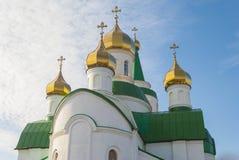 Kupoler av kyrkan. Arkivbild