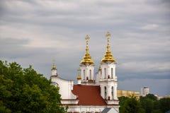 Kupoler av uppståndelsen av kyrkan Arkivbilder