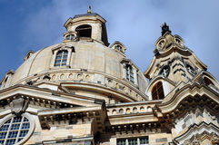 kupolfrauenkirckekyrktorn Fotografering för Bildbyråer