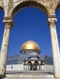 kupolisrael jerusalem rock Royaltyfri Fotografi