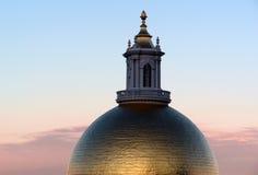 kupolmassachusetts statehouse Arkivbild