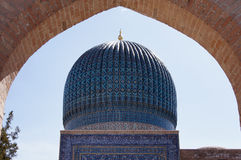 kupolmoské samarkand uzbekistan Royaltyfri Foto