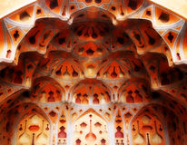 Kupoltak på Ali Kapu Palace, Isfahan, Iran Arkivfoton