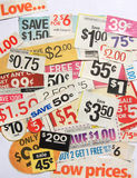 Kupon bietet niedrige Preise an Stockbild