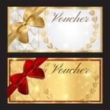 Kupong presentkort, kupongmall vektor illustrationer