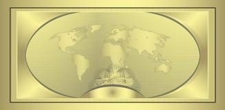 kupongguld royaltyfri illustrationer