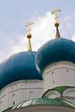 Kuppel von Bogoyavlensky Cathedral.Fragment Stockfotografie