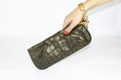 Kupplungs-Tageshandtasche der Frauen Stockfotografie