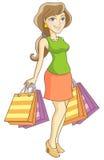 Kupujący dziewczyna Zdjęcie Royalty Free