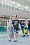 Kupujący przy Livat zakupy centrum handlowym, Pekin, Chiny Obraz Royalty Free