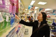 Kupujący w sklepie Zdjęcia Stock