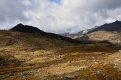 Kupup Valley, Sikkim. Kupup Valley under clouds, Sikkim Stock Image