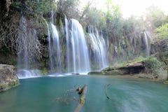 KurÅŸunlu瀑布在安塔利亚 免版税图库摄影