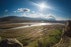 The Kura  or Mtkvari river, Georgia Royalty Free Stock Photo