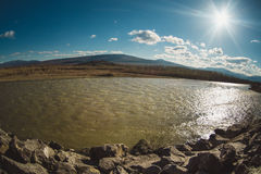 The Kura  or Mtkvari river, Georgia Stock Photo