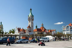 The Kuracyjny square in Sopot. SOPOT, POLAND - MAY 03, 2014: The Kuracyjny square in Sopot. The city is famous for its Sopot Song Festival Stock Photography