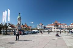 The Kuracyjny square in Sopot. Royalty Free Stock Photos