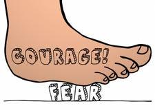 Kurage Vs skräckfoten som krossar att stampa på ord stock illustrationer